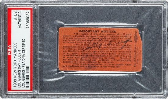 Lou Gehrig Day autograph hits the auction block at $100,000