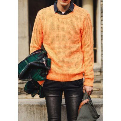 Type: Pullovers  Material: Cotton, Polyester  Sleeve Length: Full  Collar: Round Neck  Technics: Computer Knitted  Style: Fashion  Weight: 1KG  Package Contents: 1 x Sweater  SizeBustLengthShoulder WidthSleeve Length M96654363 L100664564 XL104674765