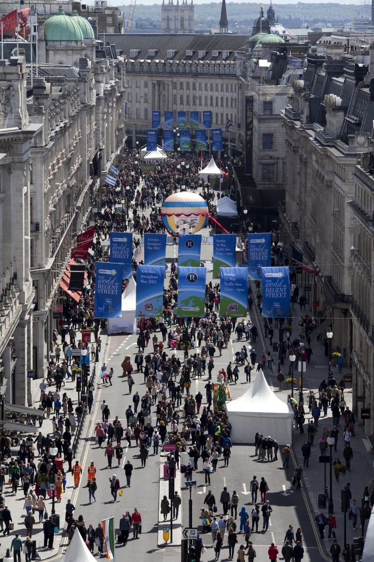 What an amazing view of The World on Regent Street.