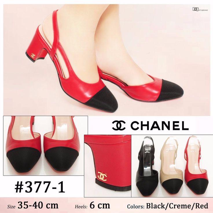 Promo Sepatu Chanel Wedges 377-1 Merah 37 210rb