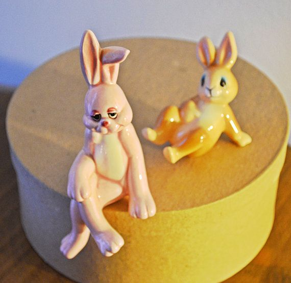 Check out this item in my Etsy shop https://www.etsy.com/ca/listing/500489645/bunny-figurines-capilano-vancouver
