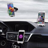 Best Car Phone Holder Golden Colours Super 3 in 1 Universal Cell Phone Car Cradle & Mount Fits iPhone & Other Popular Brands  3 Mounting Options  360 Degree Rotation  A Perfect Gift for a Great Price.