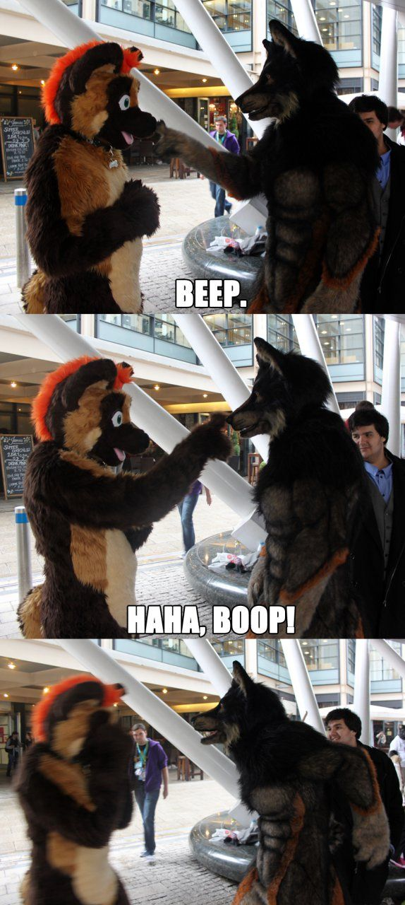 xD This is why you don't piss off a werewolf, seriously though I wonder when this happened at the London Fur's meet