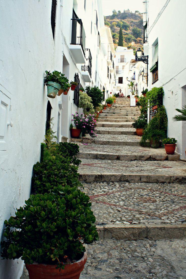 Beautiful street of Frigiliana in Andalucia, Spain 西班牙 安達盧西亞自治區 馬拉加省 夫里希利亞納