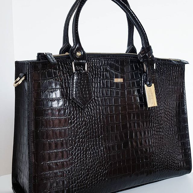 Zoe Croc black / Mabba Businessbag