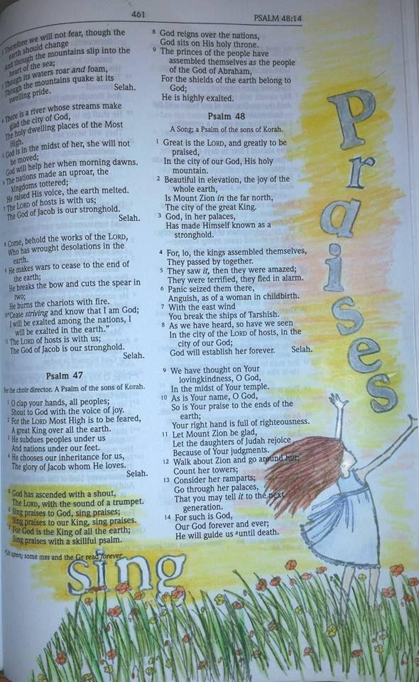 Scrap and stamp; Stamp Karen: Sing Praises to God ~ Psalm 47