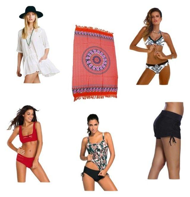 Mix and Match by kokolicious-lifestyle on Polyvore featuring bikini, swimwear, mix, swimshorts and KokoliciousLifestyle