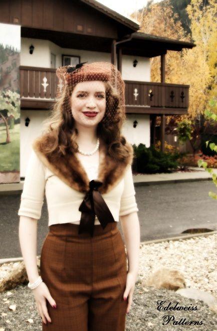 A Fall 1940s Outfit - Butterick 5859 | Edelweiss Patterns Blog