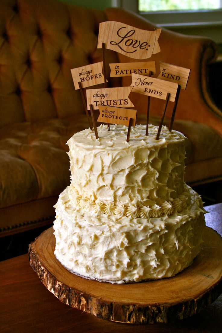 This is an alternative to a traditional cake topper. This would be cute in a bright color combination.