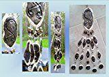Gold Bronze Troll Cross Pottery Wind Chime Viking Ceramic Clay Mobile Norse Rune Stone Scandinavian Petroglyph