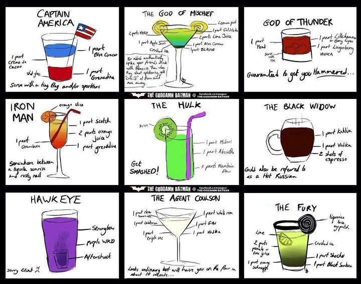 Comic Books Cocktails And Book On Pinterest
