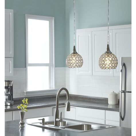 Photo Gallery On Website Style Selections Ladura in W Chrome Mini Pendant Light with Crystal Shade Lowe us