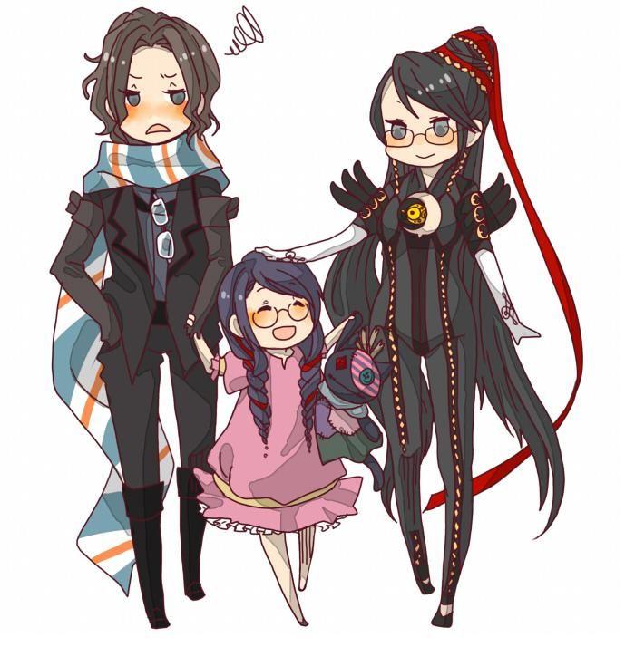 Luka, Cereza, and Bayonetta     Bayonetta Fan Art