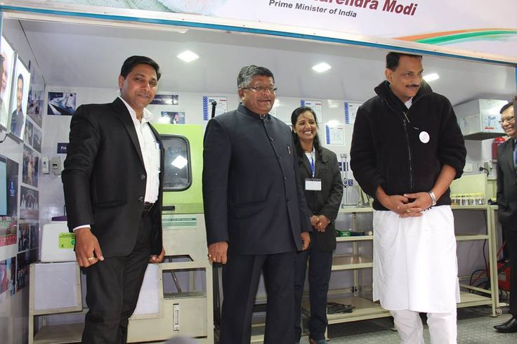 MOBILE TRAINING LAB EVENT COVERAGE AV  Union Minister for Communications IT Ravi Shankar Prasad and Minister for Skills Development and Entrepreneurship Rajiv Pratap Rudy Launch mobile van design by amass skill ventures