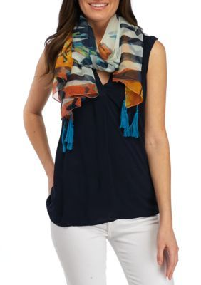 Collection Xiix Women's Tropical Floral Square Scarf - Multi - One Size