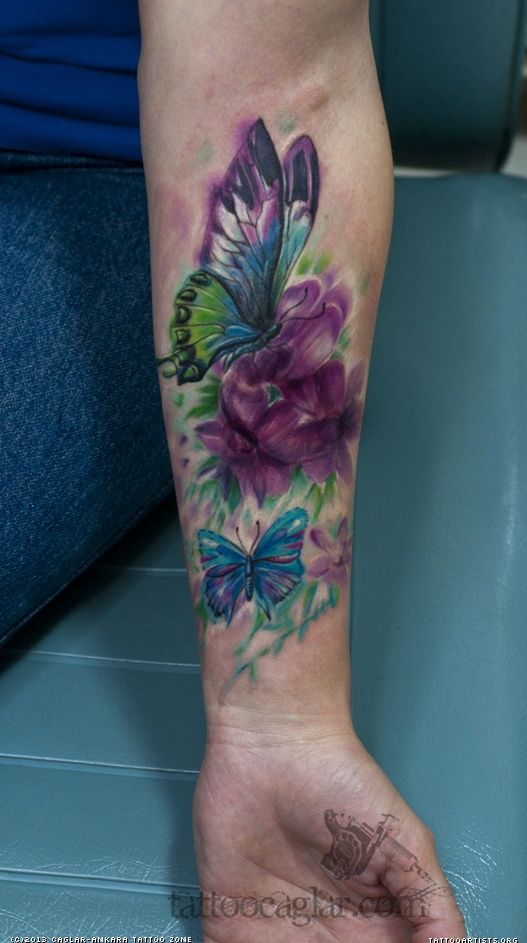 Watercolor Flower Moth Tattoo My Precious Ink: Watercolor Dragonfly Tattoo
