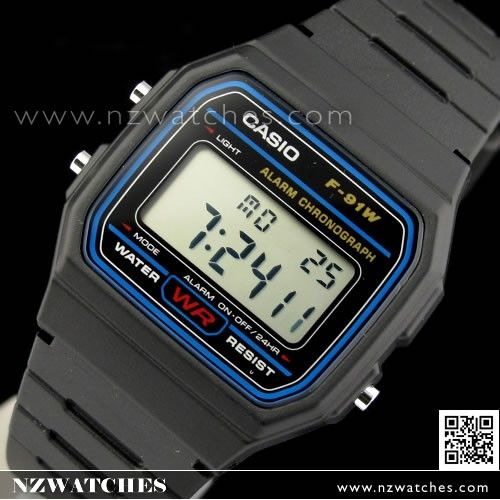 Casio Digital Water Resistant Classic Unisex Watch F-91W-1, F91W
