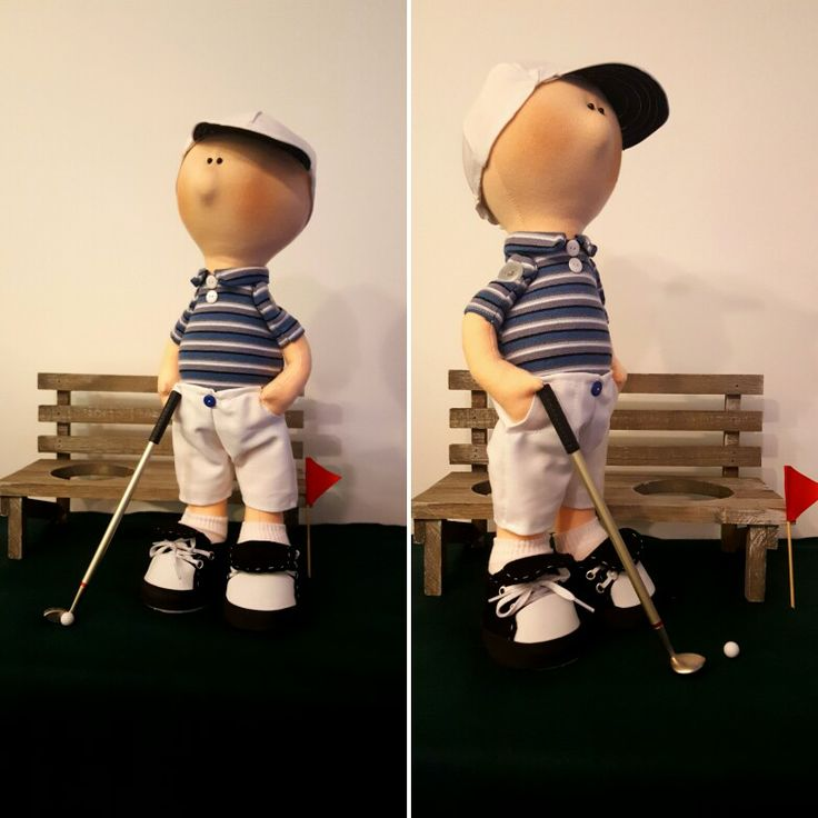 My new handmade doll Golfer ❤