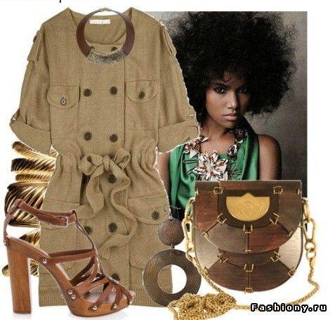 Модный тренд платье-сафари / платья сафари фото