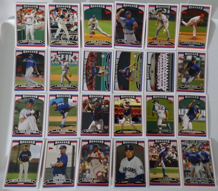 2006 Topps Series 1 & 2 Texas Rangers Team Set of 24 Baseball Cards #topps #TexasRangers
