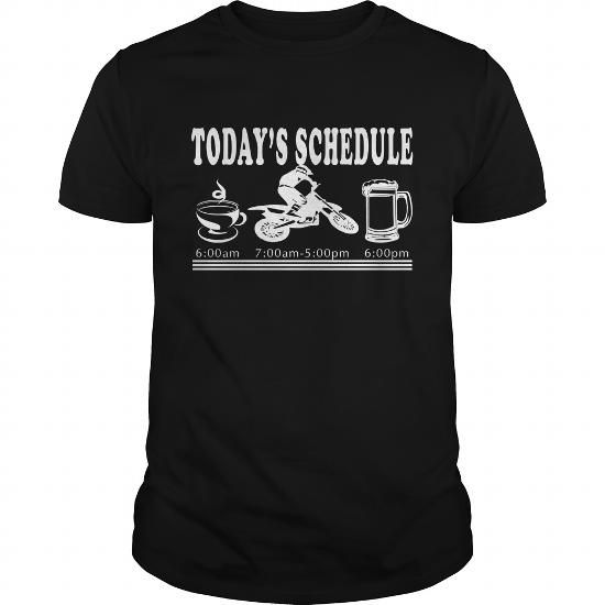 I Love Motocross Todays Schedule T-Shirts