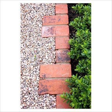 gravel path brick edging