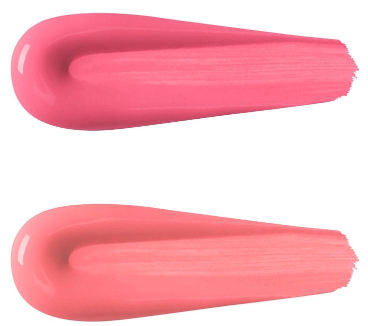 swatches double touch lipstick kiko 111 Rosa Camelia Satinato; 112 Rosa Pesca Satinato;