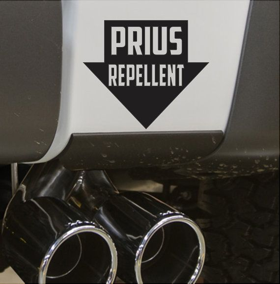 Prius Repellent Funny Bumper Sticker Vinyl By