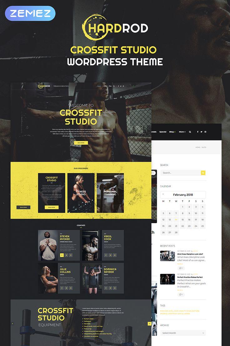 Hardrod - Dynamite Fitness & Bodybuilding WordPress Theme Big Screenshot
