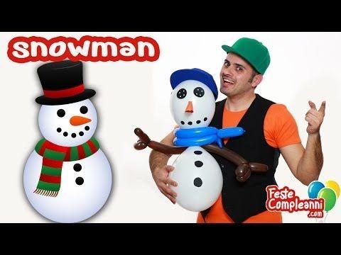 Balloon snowman with balloon art. come fare sculture di palloncini con palloncini modellabili. Pupazzo di Neve con i Palloncini.  Sculture Palloncini - Il Pupazzo di Neve - Impariamo una nuova scultura da realizzare con i palloncini modellabili. In pochi minuti riusciremo a costruire uno splendido pupazzo di neve da usare come decorazione per le vostre feste di compleanno.
