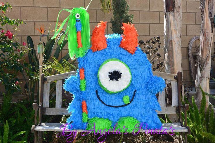 A personal favorite from my Etsy shop https://www.etsy.com/listing/209064120/little-monster-pinata-custom-hand-made
