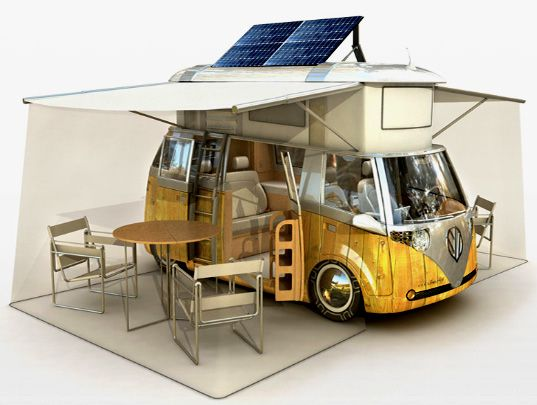 VW Verdier's Concept: Stylish Solar-Powered Eco Camper