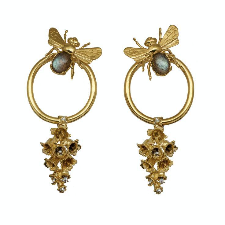 Bee and Bells Earrings