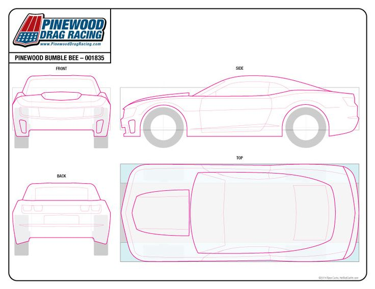 pinewood derby race car templates