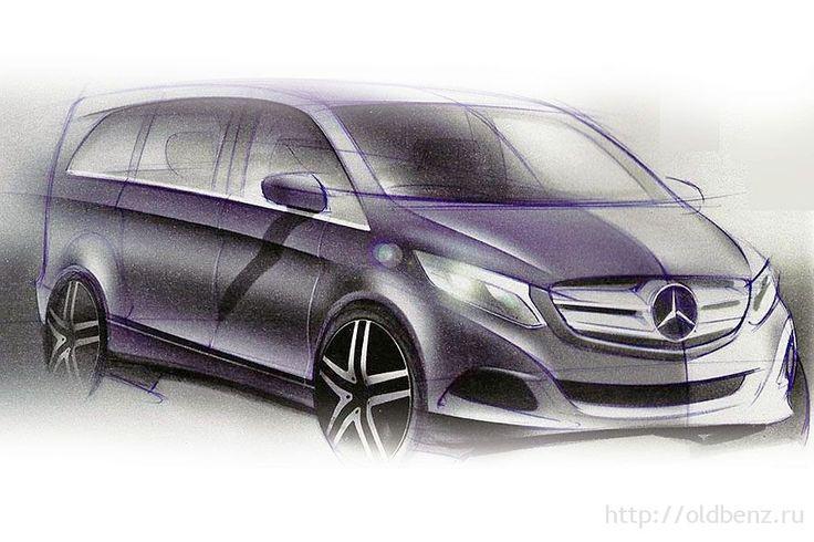 Дизайнерский скетч внешности Mercedes V-class W447