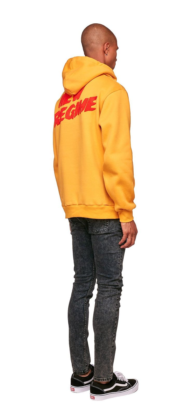 Signature Logo Hoodie (Mustard) / Made ofsoft-touch cotton fleece,this hoodie features a red New Regime loop terry embroidery back logo. #fw17