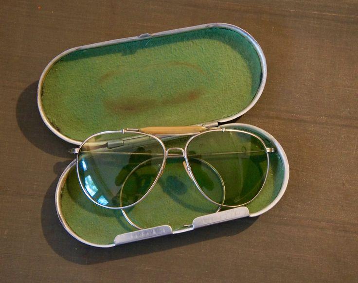 Bausch & Lomb model AN-6531 WW2 issued Aviator sunglasses. sold on eBay by member schutzenfest42.