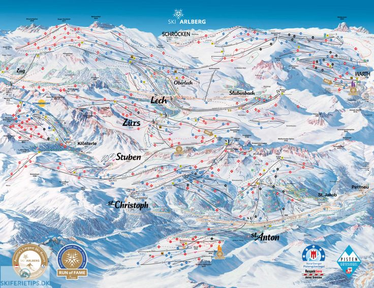 ❄⛷️ Updated St Anton am Arlberg piste map 2017/2018 - Click to see large version - #skiing