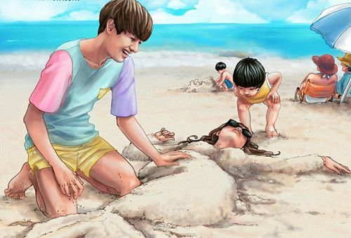 bts, v, and fanart Bild