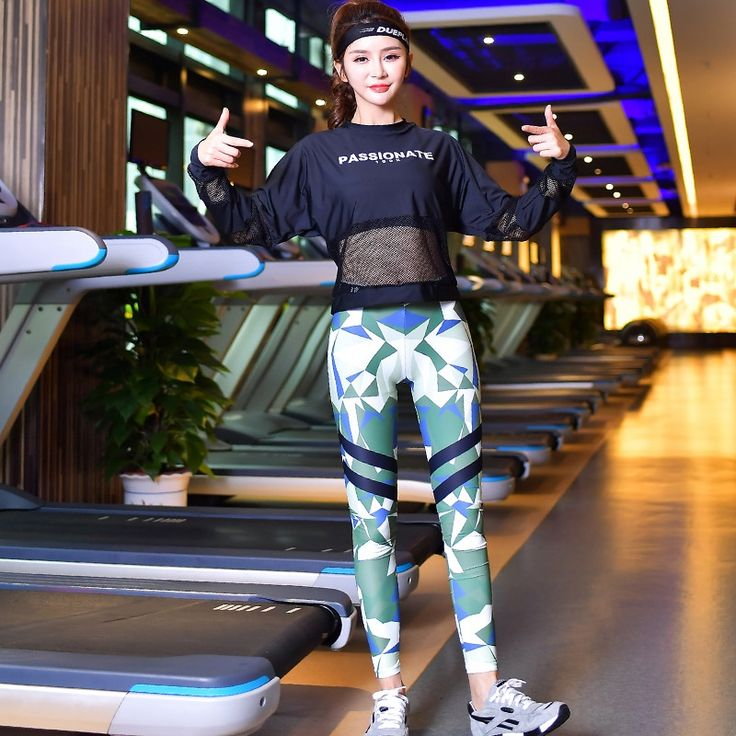 32.53$  Buy now - http://alicr4.shopchina.info/1/go.php?t=32811731203 - Camouflage Yoga Set Letters Printed Sportswear Women's Tracksuits Crop Top Sports Bra Fitness Leggings Yoga Pants Sport Costumes 32.53$ #buyonline
