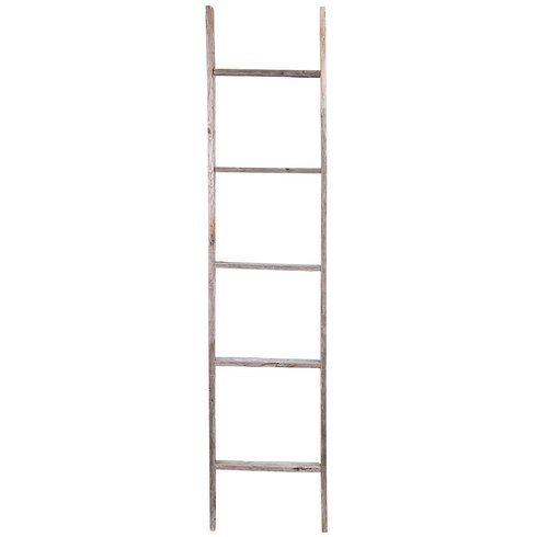 "Rustic Wood 12"" W x 60"" H Decorative Ladder"