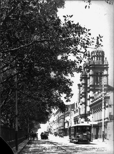 Elizabeth St. showing Jewish Synagogue, Sydney c1900