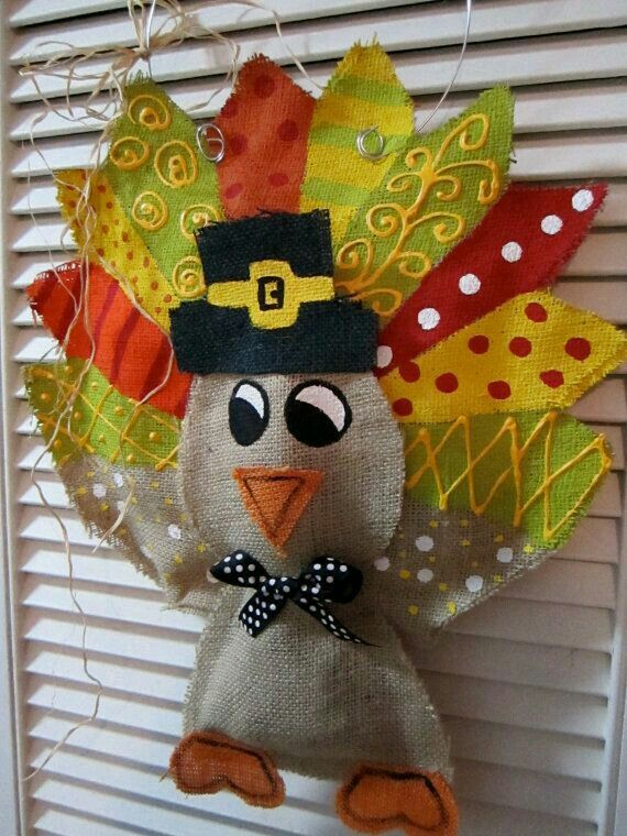 Thanksgiving Turkey Burlap Door Hanger Door By Nursejeannegu2026