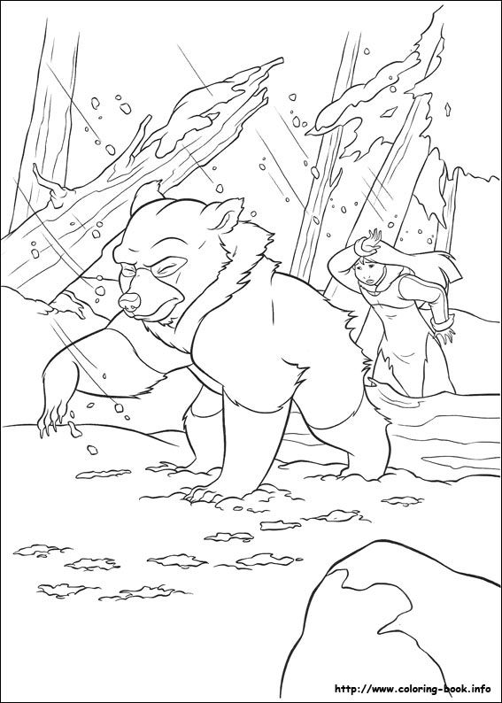 brother bear 2 coloring picture - Brother Bear Moose Coloring Pages