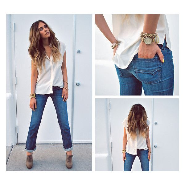 love the jeans & shoe pairing especially