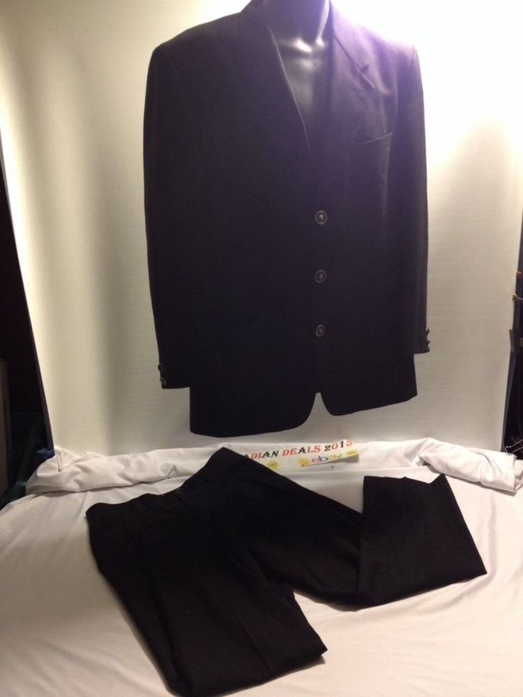 GIANNI VERSACE VERSUS VINTAGE Mens Dress suit Jacket Blazer Pant Suit 36 / 50 #VersaceCollectionVersus #ThreeButton