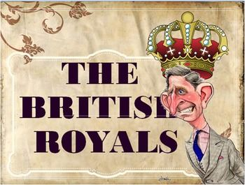 This is a 70 slide PowerPoint lesson in editable PPT format about the British royal family. It includes:- facts about the British monarchy (from their site)-Names and titles-Property of the crown-The queens governing roles  -Royal conspiracy theories -Royal gossip -protocol of behavior-the full story  in the note section, and the  source (should you feel a need to know more) Most of this material was sieved and collected from the hundreds of sites out there (from enthusiasts  to downright…