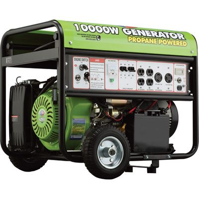 All Power Propane Generator with Electric Start — 10,000 Surge Watts, 7,500 Rated Watts, Model# APG590CN