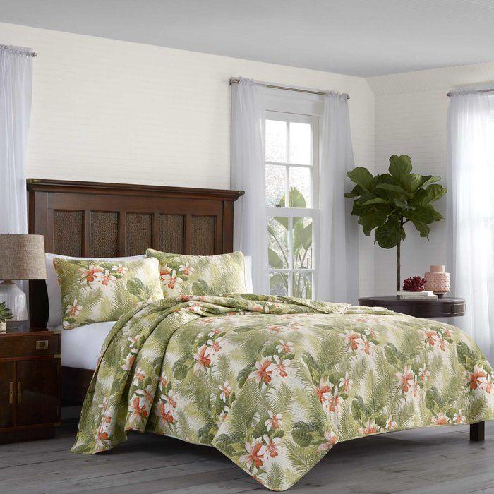 Tropical Orchid Reversible Quilt Set Bedding Quilt Sets Bedding