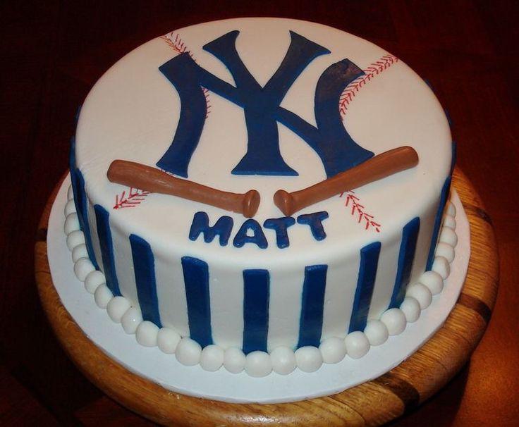 21 Best Yankees Cakes Images On Pinterest Yankee Cake